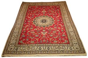 Alfombra Irán Nain 348 x 258 cm Lana y seda Ref:  K - 374
