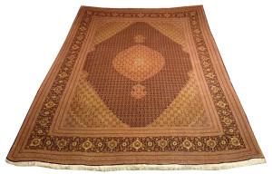 Alfombra Irán Tabriz - Mahí 358 x 253 cm Lana y seda Ref:  N - 86