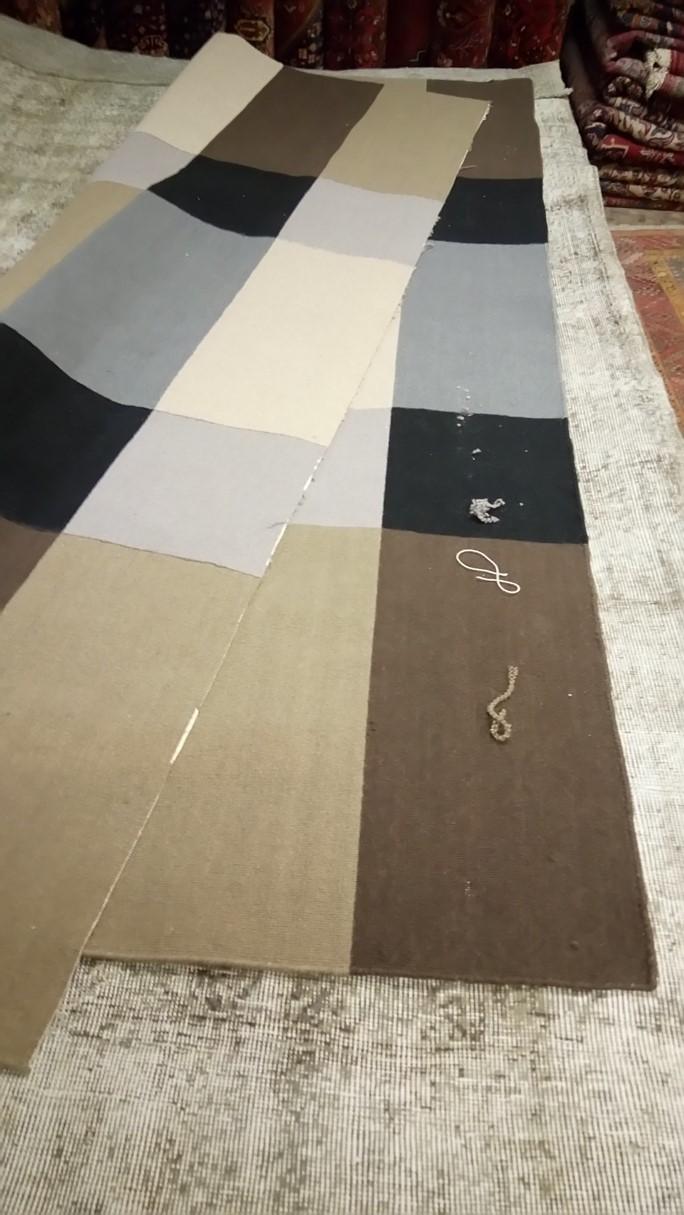 Restauraci n alfombra partida de dos alfombras barcelona - Alfombras en barcelona ...
