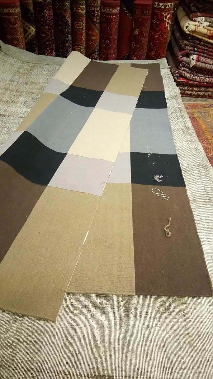 Restauraci n alfombra partida de dos alfombras barcelona - Restauracion de alfombras ...