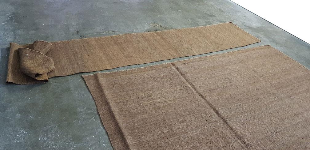 Traslado de trozo de kilim cortado