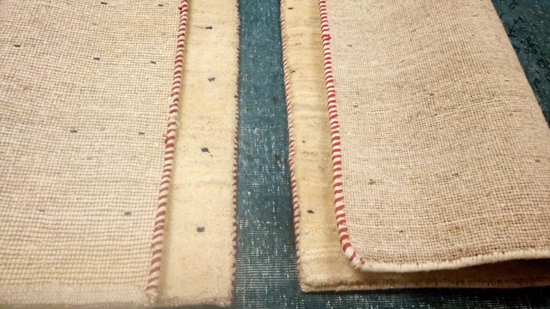 Acortar y estrechar una alfombra para crear una pareja