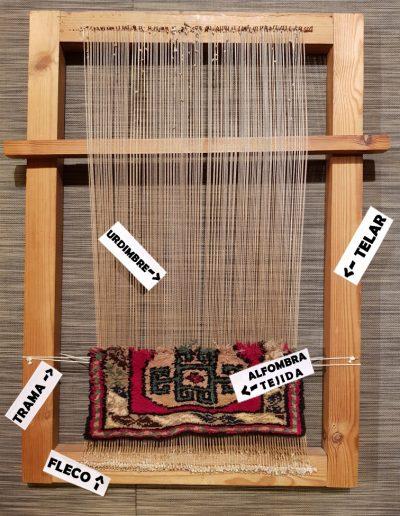 Estructura de una alfombra manual