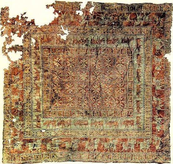 Alfombra Patchwork, la alfombra más antigua del mundo.