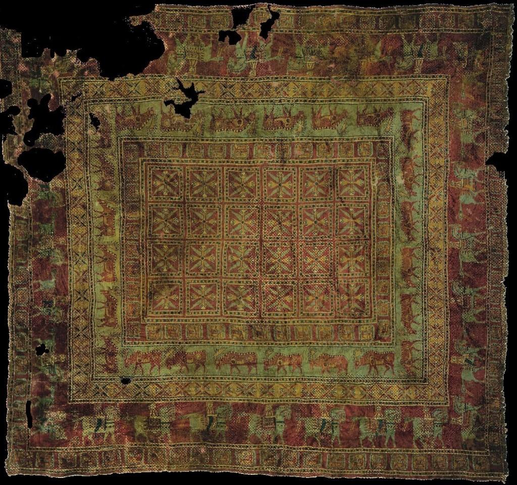 La alfombra m s antigua del mundo alfombras barcelona for Origen de alfombra
