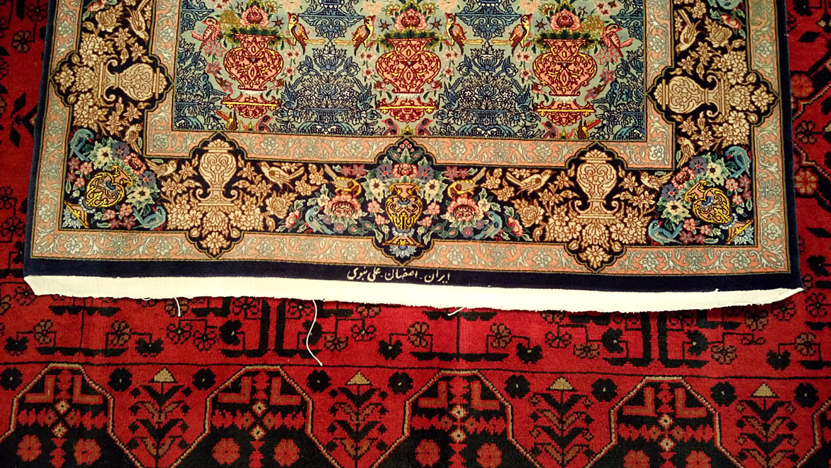 Restaucion flecos Isfahan cocido remate