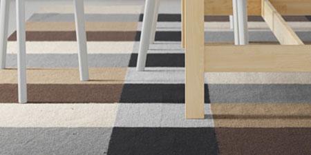 Restauración: alfombra partida de dos