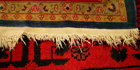 Restauración flecos alfombra Hereke