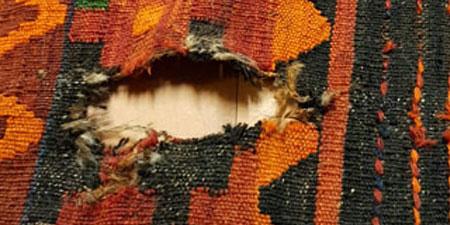 restauración kilim nuevo tejido y parchear