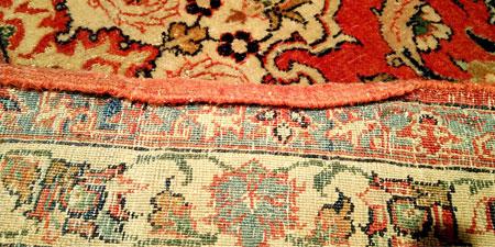Restauración lateral de alfombra
