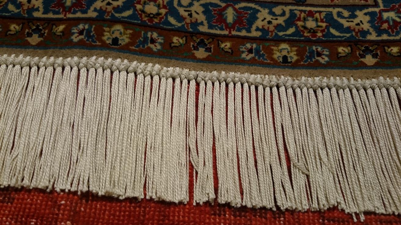 Restauración flecos alfombra persa