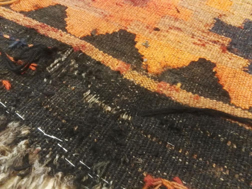 Restauración kilim tejido nuevo