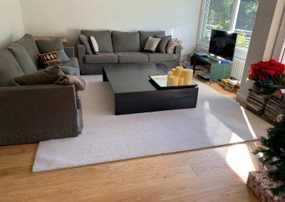 alfombra lisa colocadas