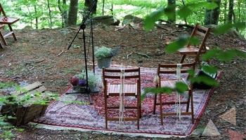 Alquiler de alfombra para boda en naturaleza